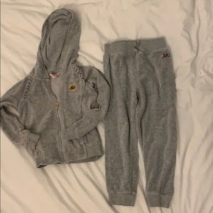 Juicy Couture girls velour sweatsuit size 4T